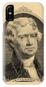 Thomas Jefferson In Sepia IPhone Case