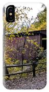 Thomas Mill Covered Bridge Over The Wissahickon IPhone Case