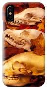 Three Animal Skulls IPhone Case
