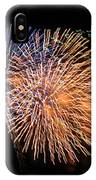 Three Bursts Of Fireworks Four July Two K Ten IPhone Case