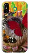 Three Butterflies On Protea IPhone Case