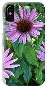 Three Coneflowers IPhone Case