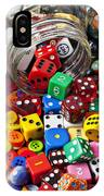 Three Jars Of Buttons Dice And Marbles IPhone Case