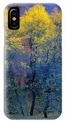 Three Thin Autumnal Trees In Front Of IPhone Case