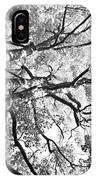 Three Trees Reach For The Sky Black And White IPhone Case