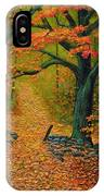 Through The Fallen Leaves II IPhone Case
