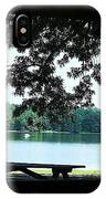 Through The Pavilion At Trap Pond State Park Delaware  IPhone Case