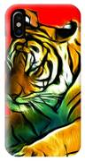 Tiger - 3825 - Red IPhone Case