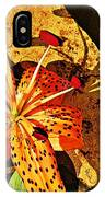 Tiger Lily Still Life  IPhone Case