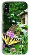Tiger Swallowtail By The Bird Feeder  IPhone Case