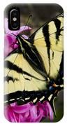 Tiger Swallowtail On Pink Hyacinth IPhone Case