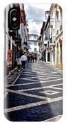 Tiled Street Of Ponta Delgada IPhone Case