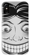 Tillie The Clown Of Coney Island In Black And White IPhone Case