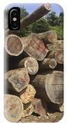 Timber At A Logging Area, Danum Valley IPhone Case