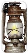 Time Worn Kerosene Lamp IPhone Case