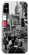 Times Square New York Toc IPhone Case