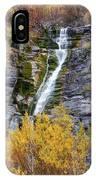 Timpanogos Waterfall In The Fall - Utah IPhone Case