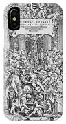 Title Page To Vesalius' Book On Anatomy IPhone X Case
