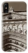 Toledo Cathedral Entrance In Sepia IPhone Case