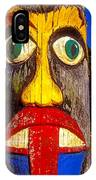Totem Pole With Tongue Sticking Out IPhone Case