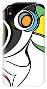 Toucan And Company On White IPhone Case
