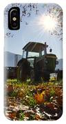Tractor In Backlight IPhone Case