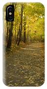 Trail Scene Autumn Abstract 1 IPhone Case