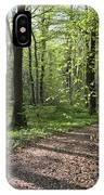 Trail Through Spring Forest Bavaria IPhone Case