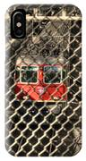 Train Behind A Fence IPhone Case