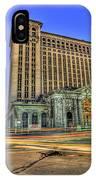 Michigan Central Train Depot Station Detroit Mi IPhone Case