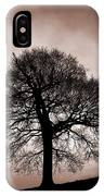 Tree Against A Stormy Sky IPhone Case