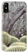 Tree And Barrel Cactus IPhone Case