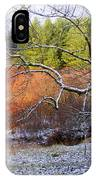 Tree And Tire Swing In Winter IPhone Case