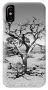 Tree At Cedar Ridge Bw IPhone Case