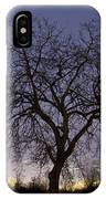 Tree At Night With Stars Trails IPhone Case