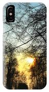 Trees And Sun In A Foggy Day IPhone Case