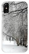 Trees In Snow IPhone Case