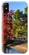 Trees On The Lake Front In Autumn IPhone Case