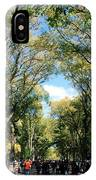 Trees On The Mall In Central Park IPhone Case