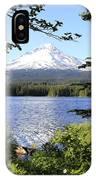 Trillium Lake At Mt. Hood IPhone Case