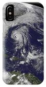 Tropical Cyclones Katia, Lee, Maria IPhone Case