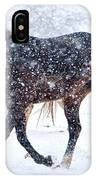 Trotting In The Snow IPhone Case