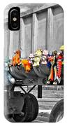 Truck And Dolls With Selective Coloring IPhone Case