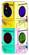Truly Nolen Rat In Quad Colors IPhone Case