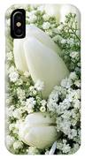 Tulip Tulipa Sp And Babys Breath IPhone Case