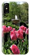 Tulips And Fountain IPhone Case
