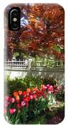 Tulips By Dappled Fence IPhone Case