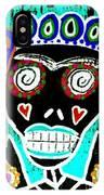 Turquoise Queen Sugar Skull Angel IPhone Case