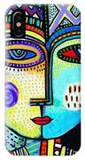 Turquoise Sky Goddess IPhone Case