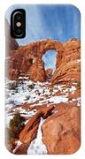 Turret Arch In Winter IPhone Case